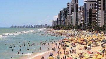 A very crowded beach.
