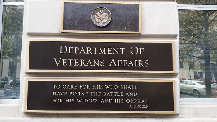 A department of veterans affairs sign.