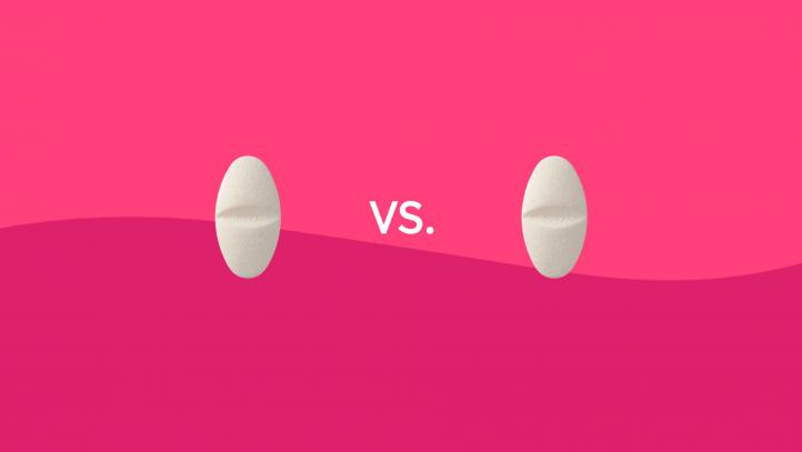 Diclofenac vs. ibuprofen drug comparison