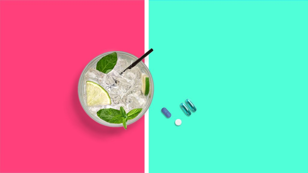 Alcohol and over-the-counter painkillers