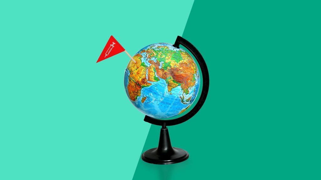Travel vaccinations - globe