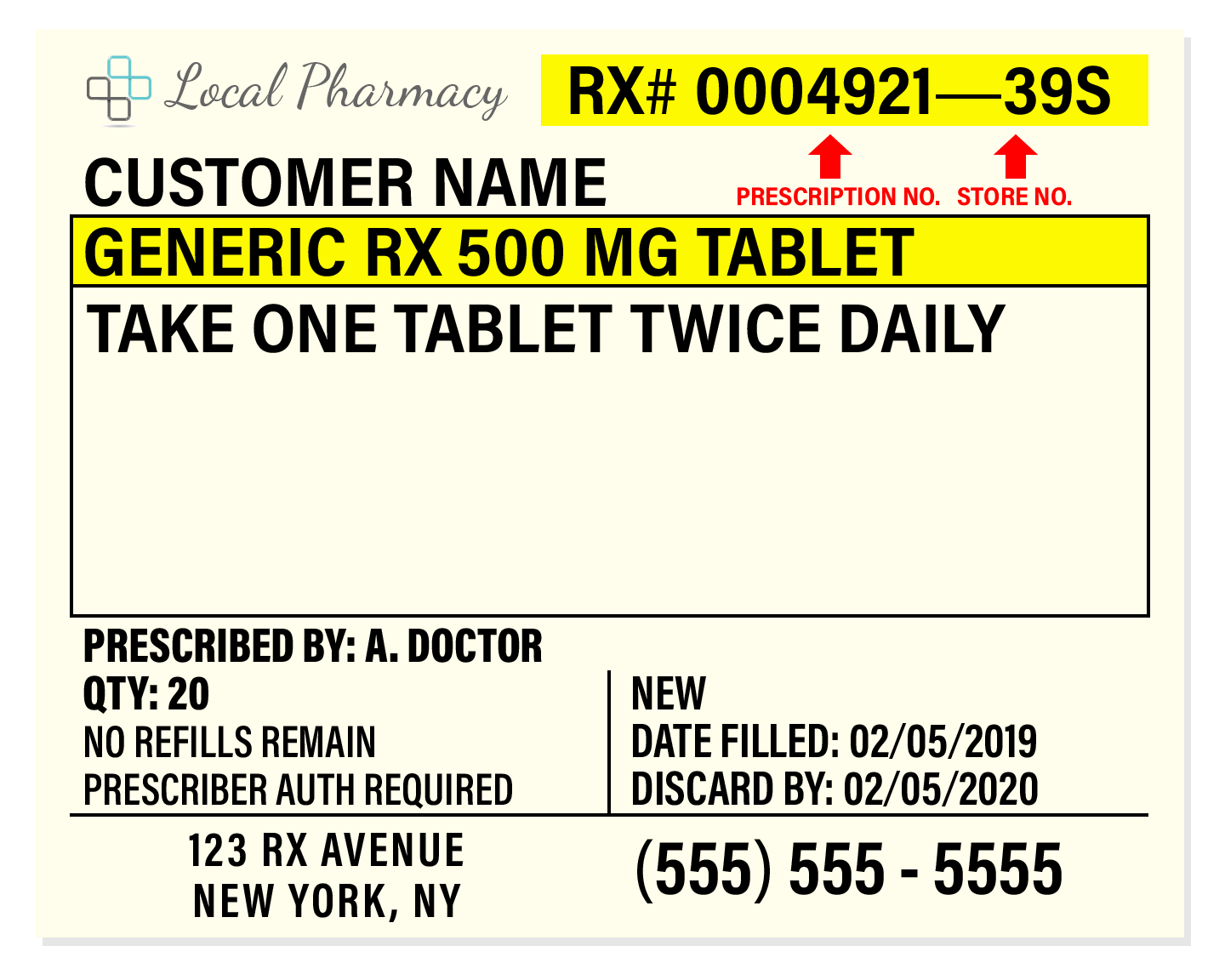 8 Parts of a Prescription Label