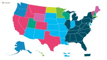 Map highlighting most popular prescriptions in every state