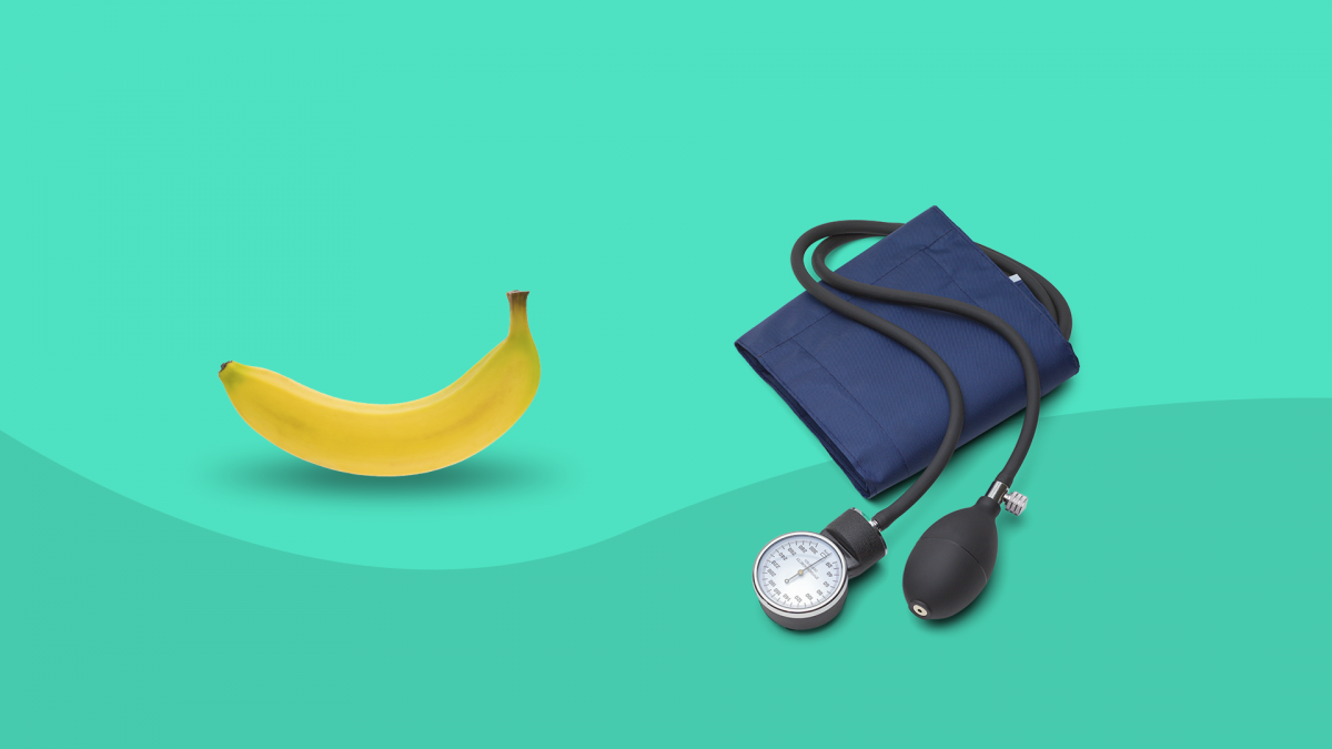 An banana and blood pressure cuff symbolize erectile dysfunction tests