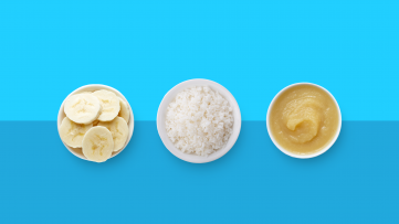 Bananas, rice, and apple sauce are good examples of what to eat when you have the flu