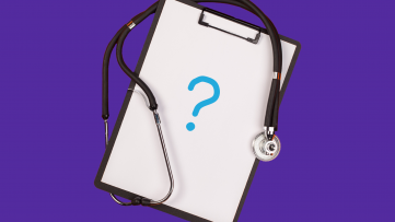 Clipboard and stethoscope - questions to ask your doctor