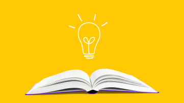A book and a light bulb represents how pharmacists can improve health literacy
