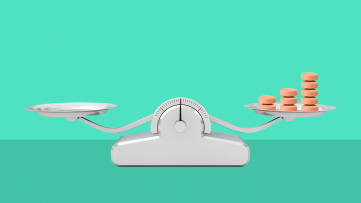 A scale with medication represents the benefits of ADHD medication for teens