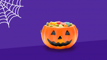 A plastic pumpkin full of allergy free candy