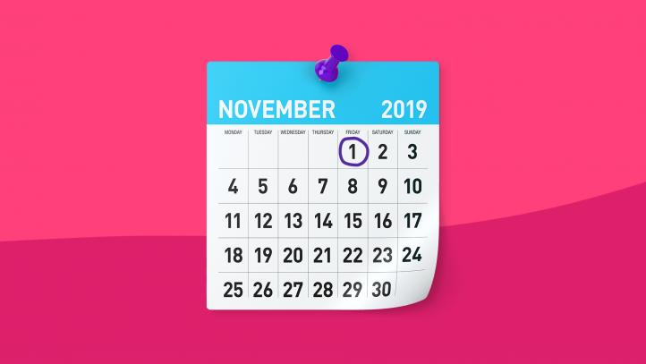 A calendar represents ACA open enrollment