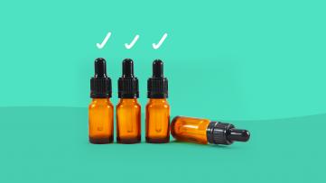 Vials of medication represent a penicillin allergy