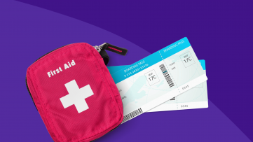 Medications Airlines Carry - first aid kit and boarding pass