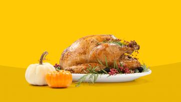 A turkey represents holiday heartburn