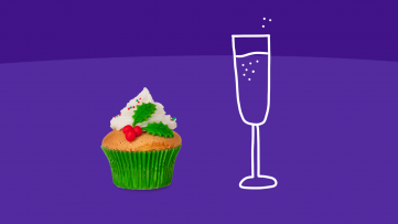 Heart healthy tips - cupcake and champagne