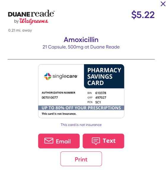 SingleCare coupon