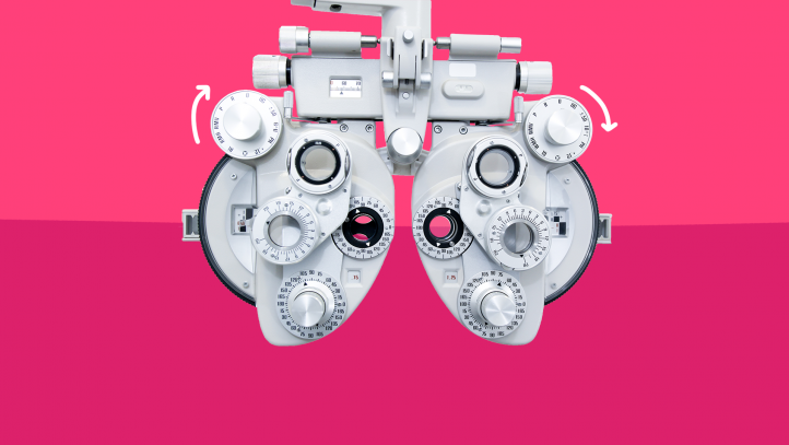 An eye examination machine represents what it's like living with glaucoma