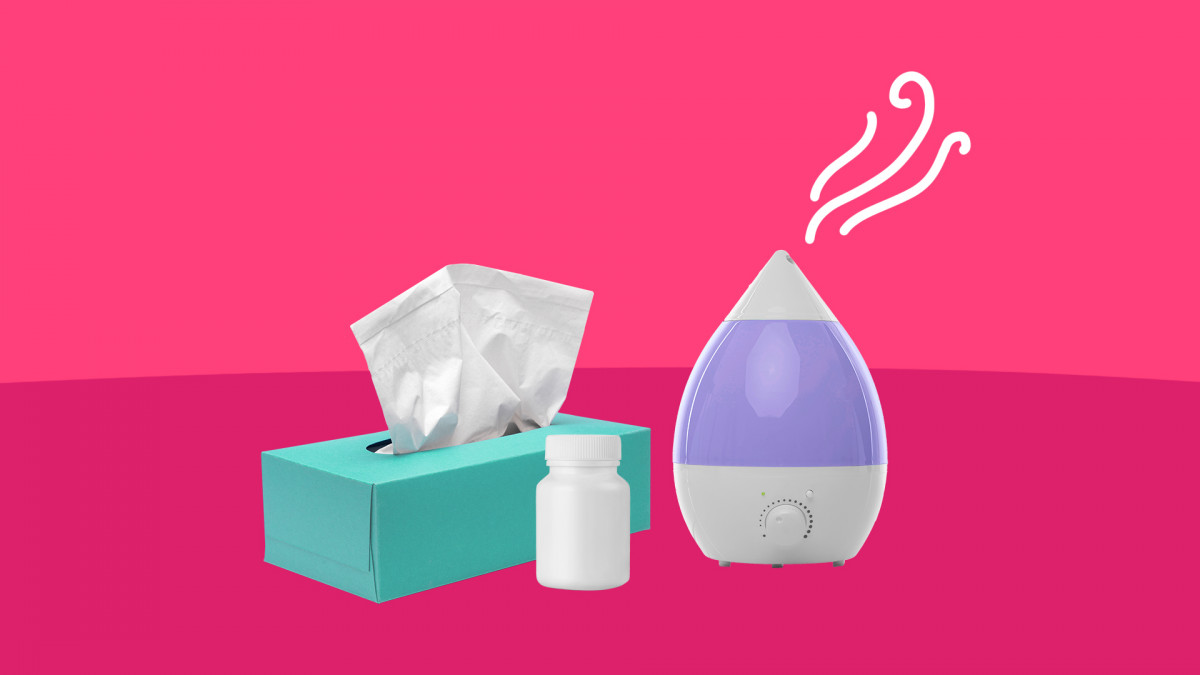 A humidifier and OTC meds are flu remedies
