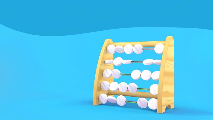 An abacus made of pills represents prescription reminder tools