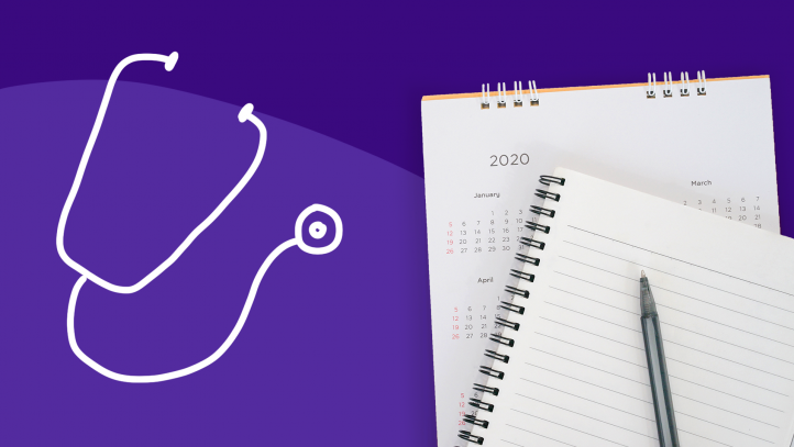 A stethoscope represents your annual physical exam