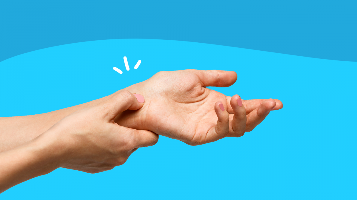 Hands represent living with rheumatoid arthritis