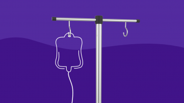 An IV pole illustration of Toradol