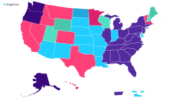 An illustration of the most popular prescription in every state