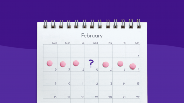 A calendar shows daily aspirin pills