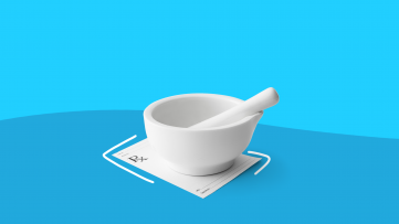 mortar pestle from a compounding pharmacy