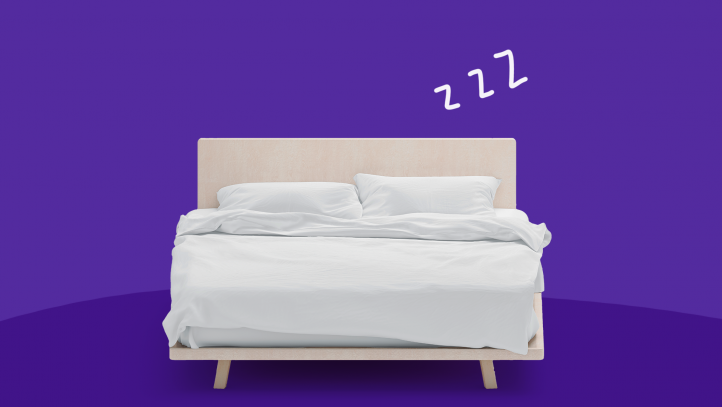 A bed with z's represents how to sleep better