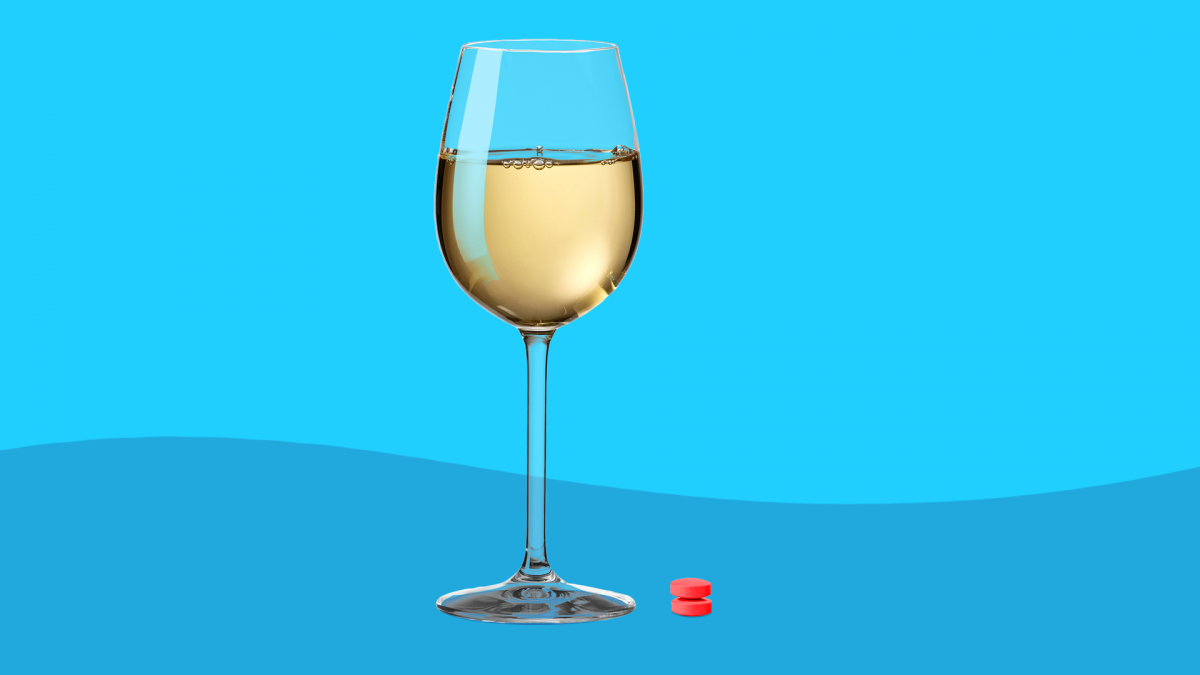 Sudafed and alcohol (a glass of white wine)