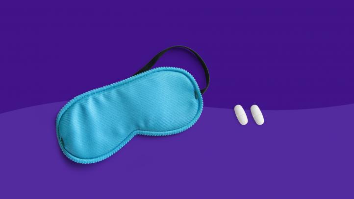 Sleep mask and pills -- Opioids Sleep Aids