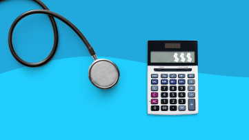 Coinsurance - stethoscope and calculator
