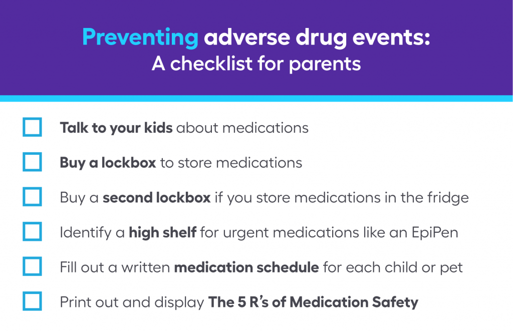 preventing adverse drug events checklist for parents