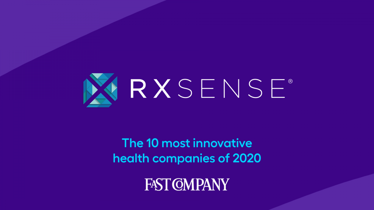 Fast Company award for RxSense fast company most innovative companies
