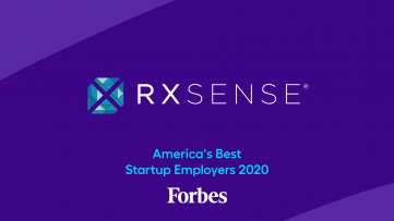 Forbes award for RxSense best startup company