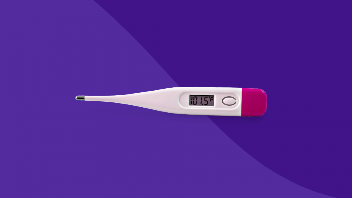 A thermometer represents febrile seizures