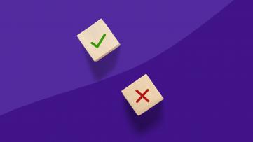 A checkmark and an x represent a false positive drug test