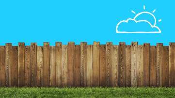 A fence represents self isolation for coronavirus