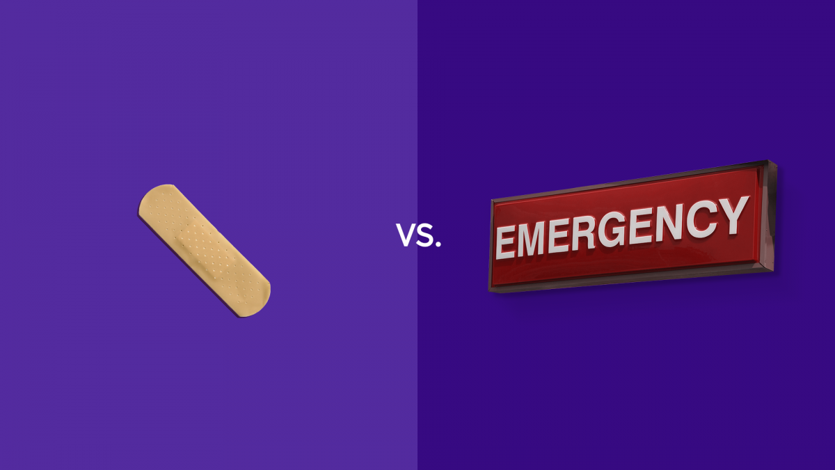 Urgent care vs emergency room visits