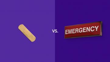 Urgent care vs emergency room visits