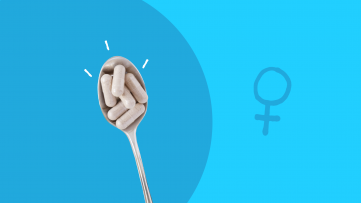 A spoon of multivitamins for women