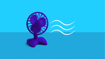 What is perimenopause - fan with heat waves