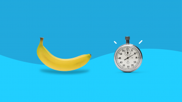 How Stress and Anxiety Affect ED (picture of banana and stopwatch)