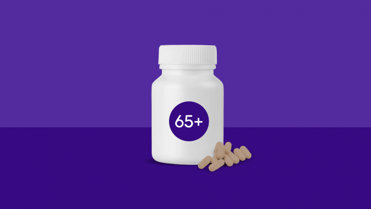 Multivitamins for Seniors (Picture of 65+ Pill Container)
