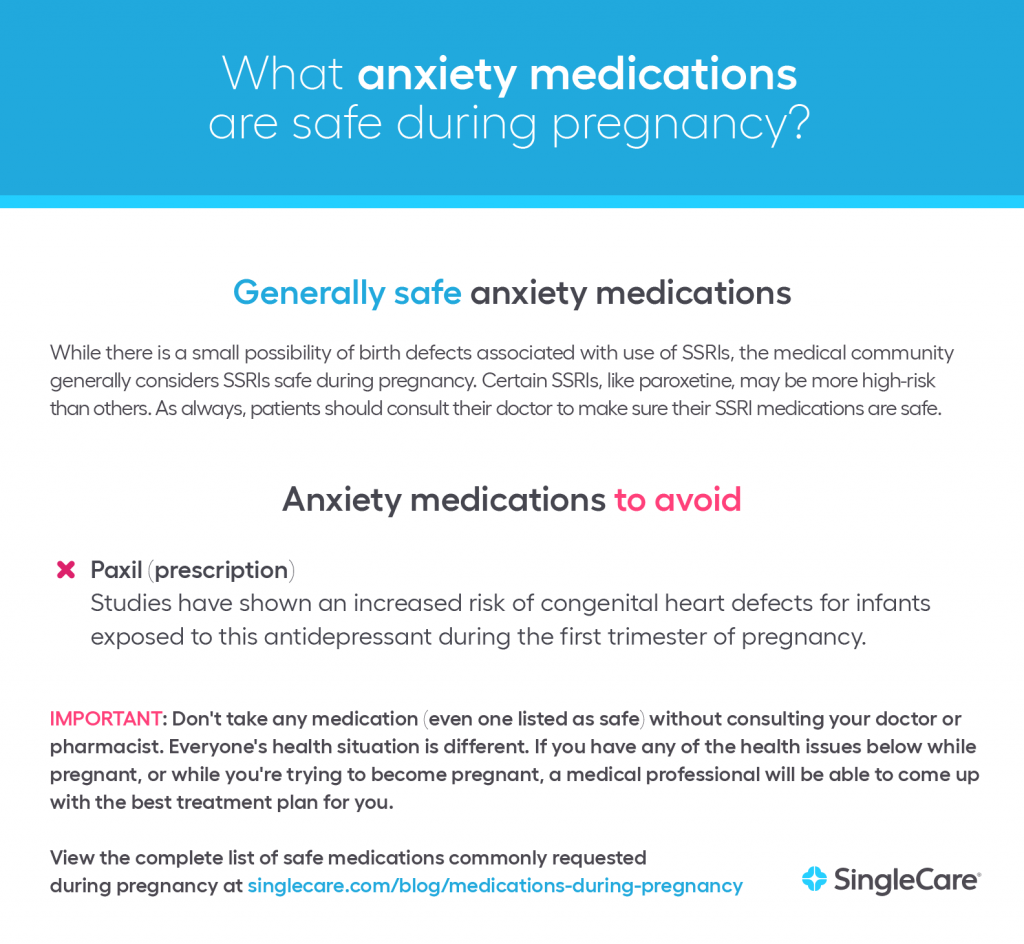 Safe anxiety medications during pregnancy