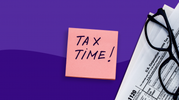 A sticky note that says Tax Time represents medical expense deduction