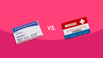 Medicare card and Medicaid card