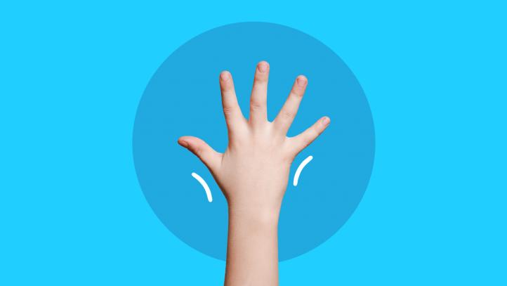 A hand represents juvenile arthritis