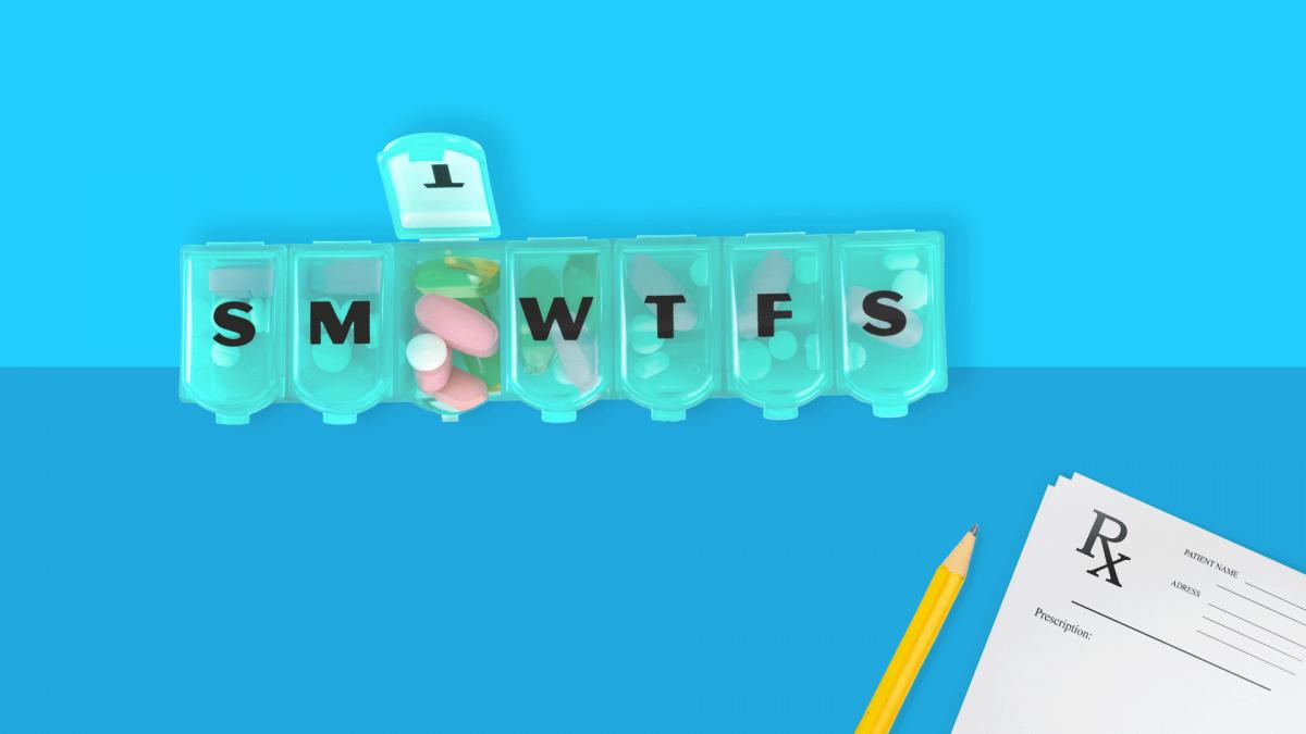 a pill organizer for medication management