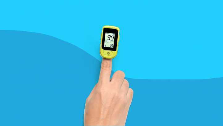 A pulse oximeter for at home use